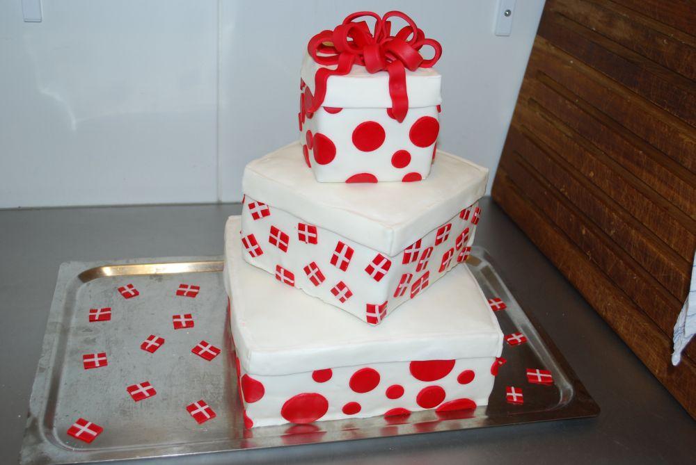 fødselsdagskage med fondant